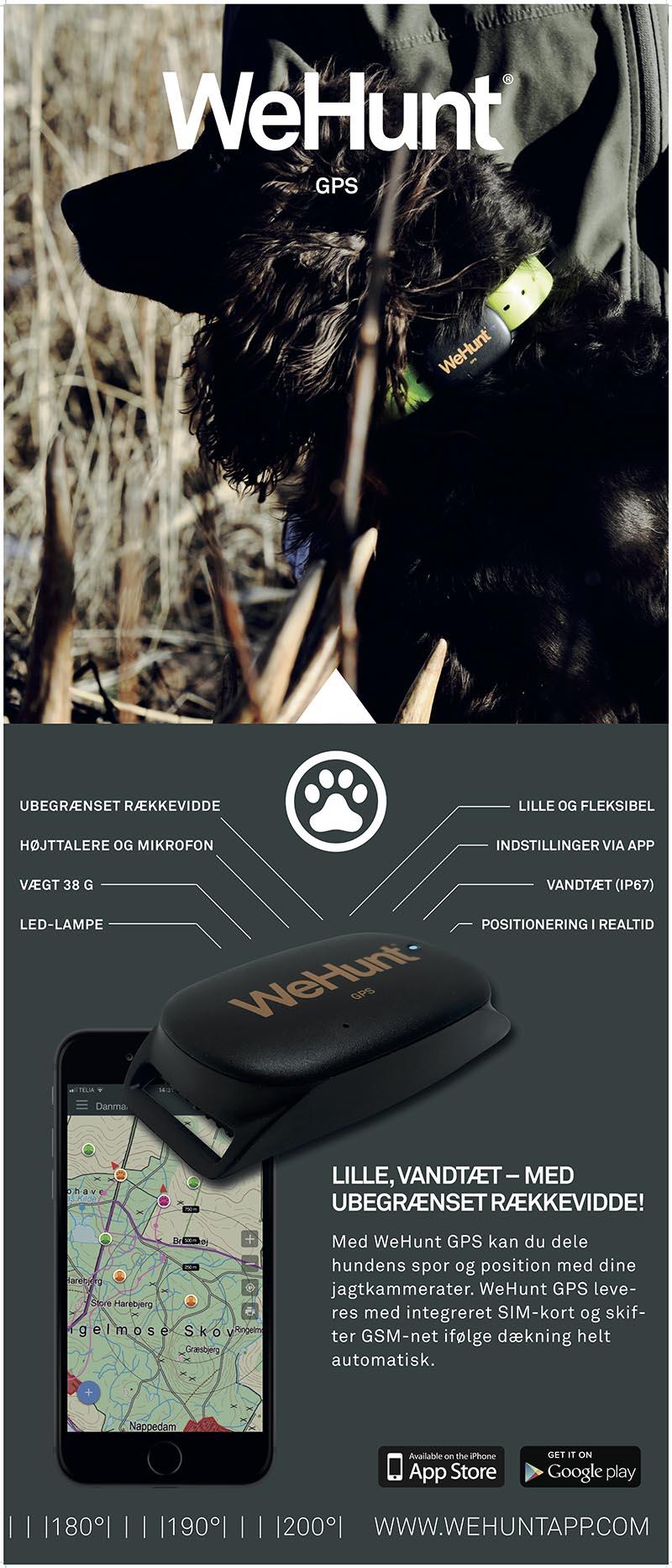 WeHunt GPS enhed til sporing af jagthund